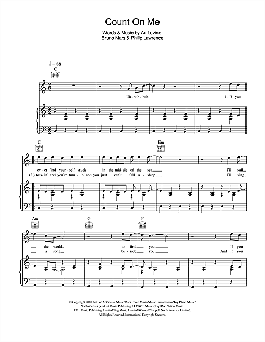 Count On Me Sheet Music