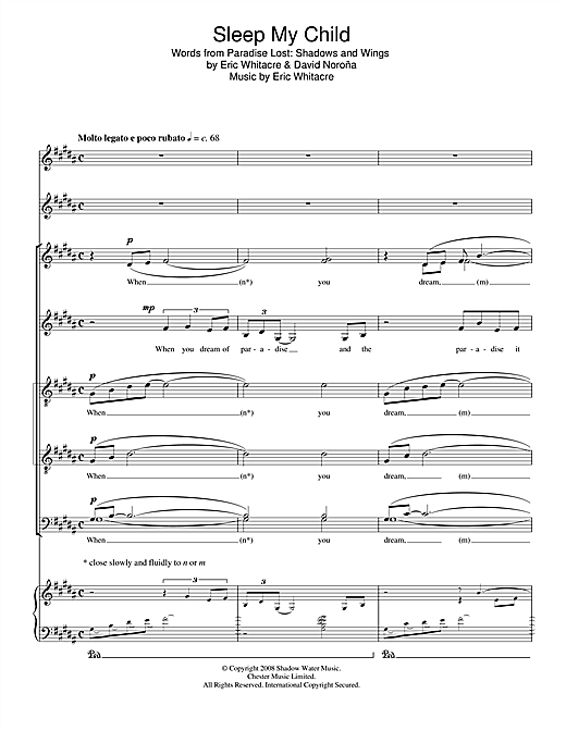 Sleep My Child Sheet Music