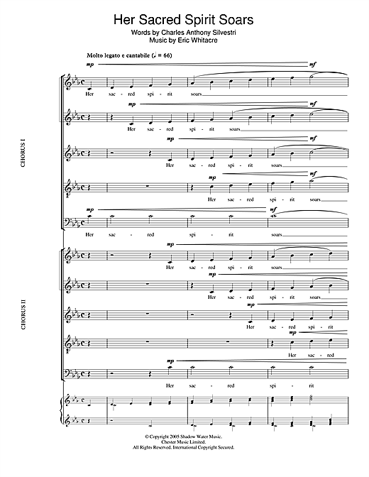 Her Sacred Spirit Soars Sheet Music