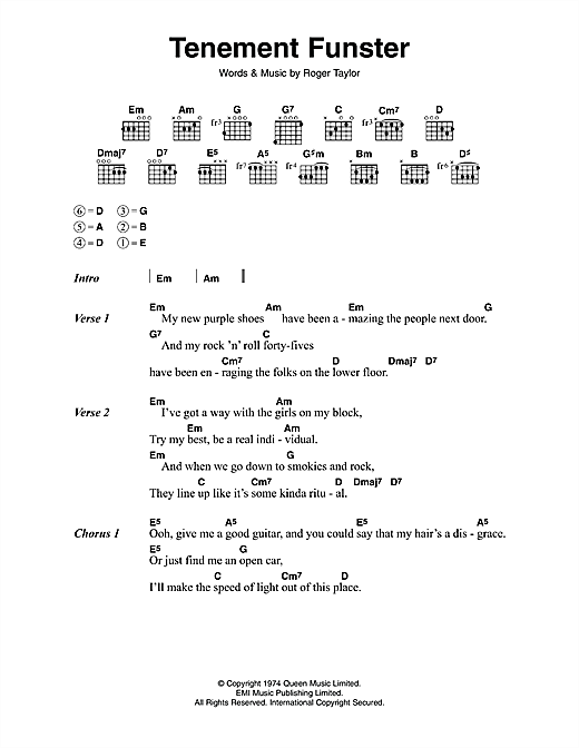 Tenement Funster Sheet Music