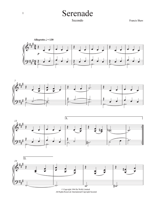 Stately Home (Serenade) Sheet Music