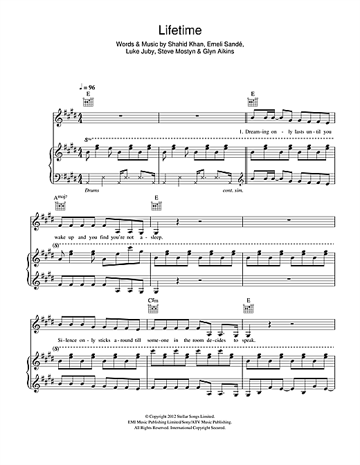 Lifetime Sheet Music