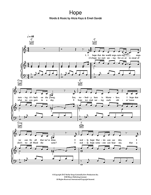Hope Sheet Music