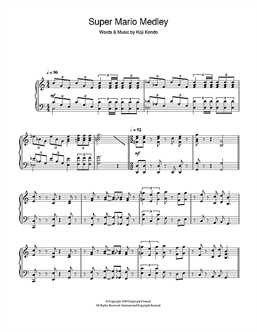 Super Mario Bros Theme Sheet Music