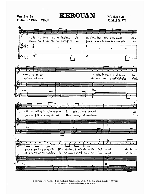 Kerouan Sheet Music