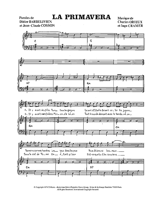 La Primavera Sheet Music