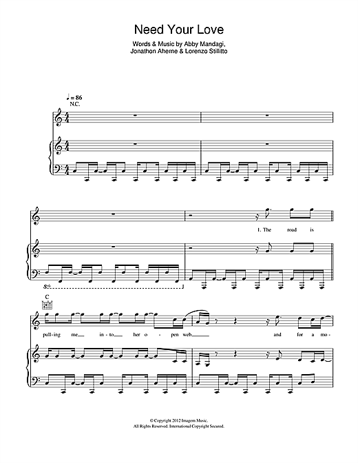 Need Your Love Sheet Music