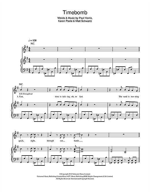 Timebomb Sheet Music