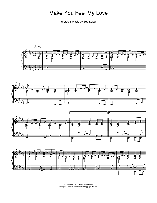page one of Make You Feel My LoveASALTTEXT