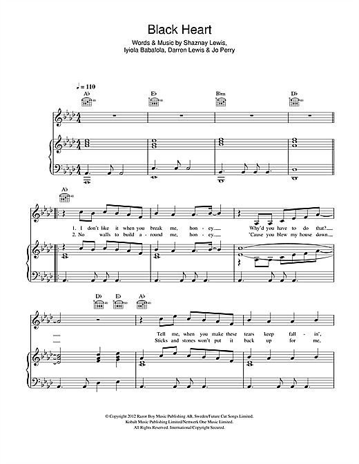 Black Heart Sheet Music