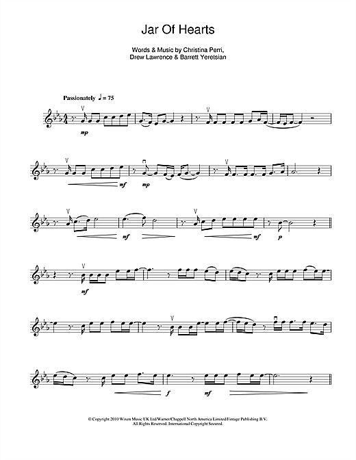 Jar Of Hearts Sheet Music Christina Perri - FREE SHEET MUSIC PDF