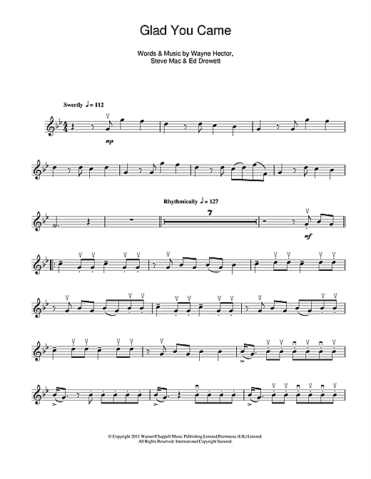 Glad You Came Sheet Music