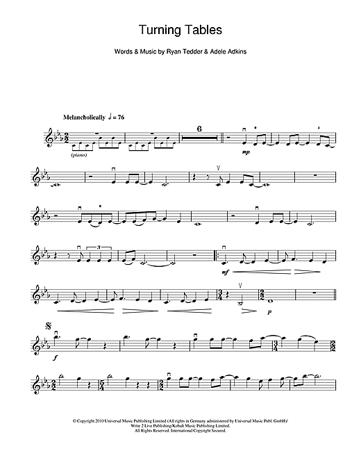 Turning Tables Sheet Music