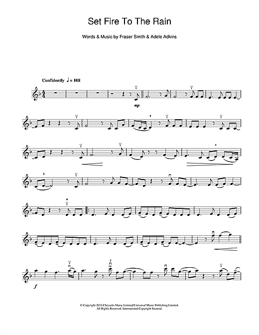 Set Fire To The Rain Sheet Music