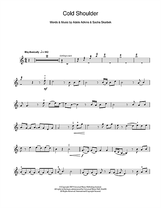 Cold Shoulder Sheet Music