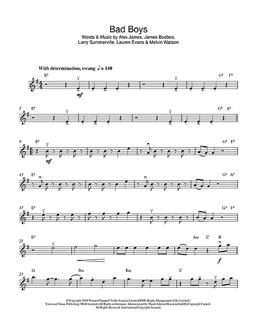 Bad Boys Sheet Music