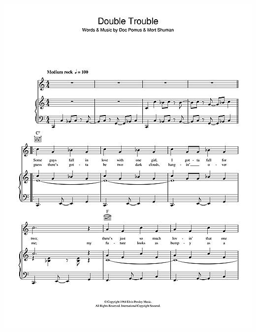 Double Trouble Sheet Music