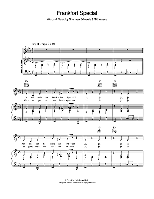Frankfort Special Sheet Music