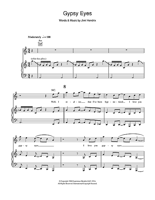 Gypsy Eyes Sheet Music