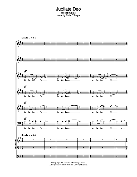 Jubilate Deo Sheet Music