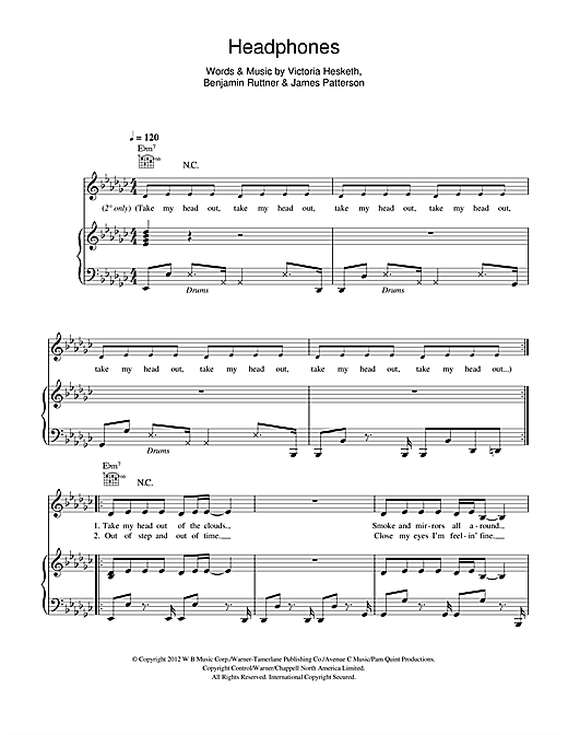 Headphones Sheet Music
