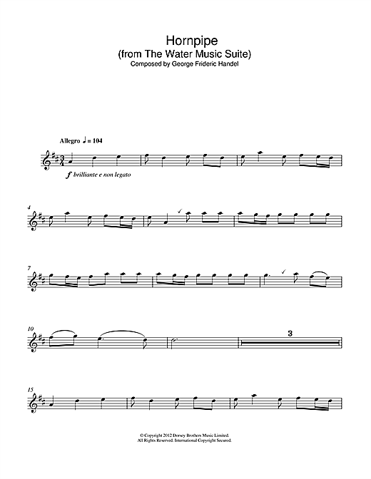 page one of Hornpipe (from The Water Music Suite)ASALTTEXT
