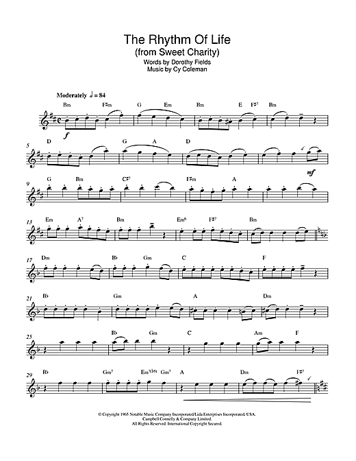 The Rhythm Of Life (from Sweet Charity) Sheet Music