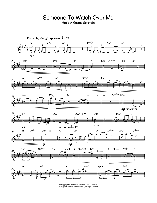 Someone To Watch Over Me Sheet Music