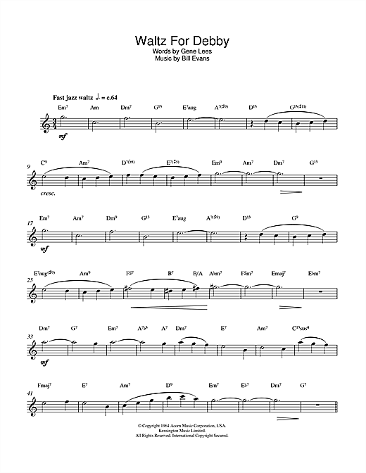 Waltz For Debby Sheet Music