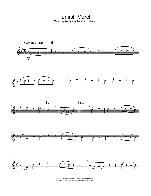 Turkish March Sheet Music