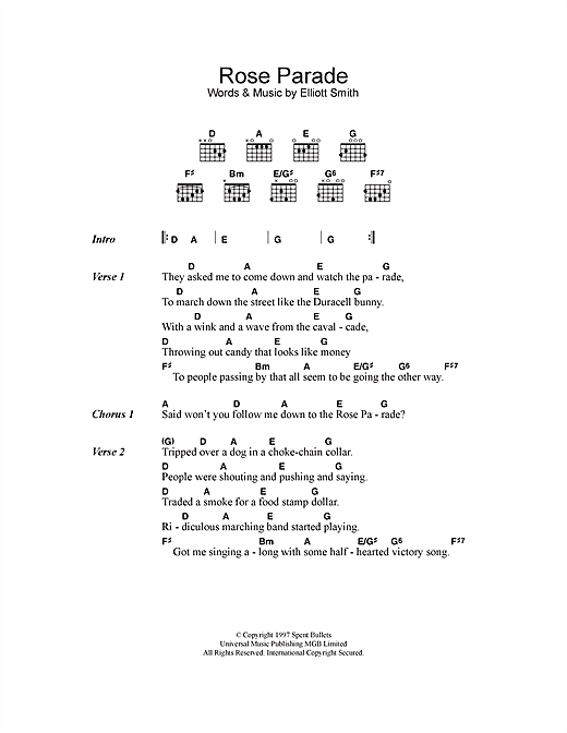Rose Parade (Guitar Chords/Lyrics)