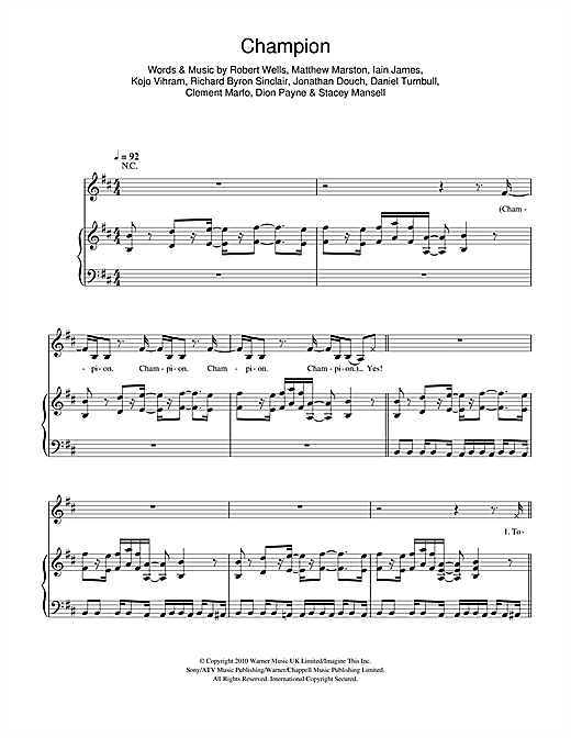 Champion Sheet Music