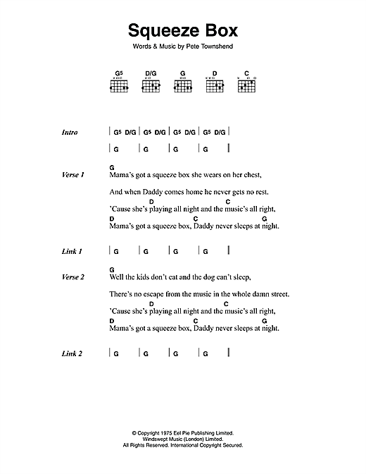 page one of Squeeze BoxASALTTEXT