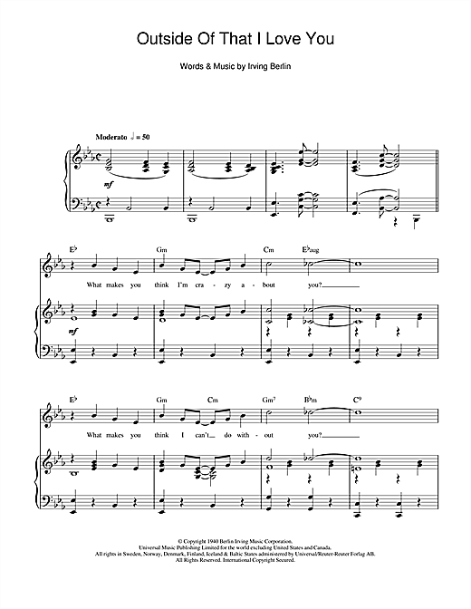Outside Of That I Love You Sheet Music