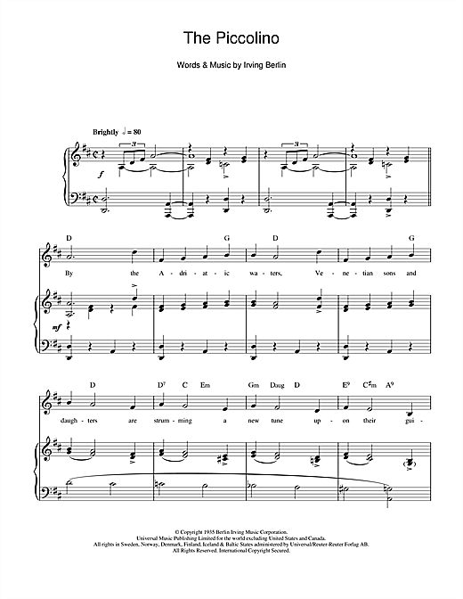 The Piccolino Sheet Music