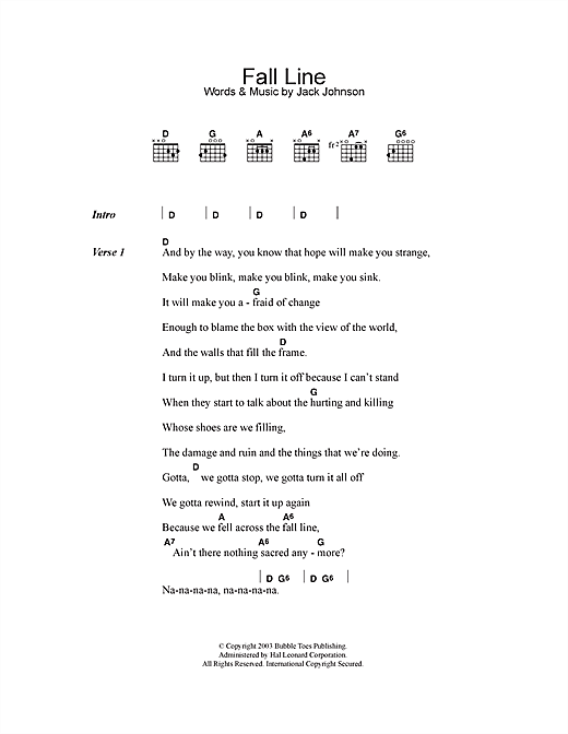 Fall Line Sheet Music