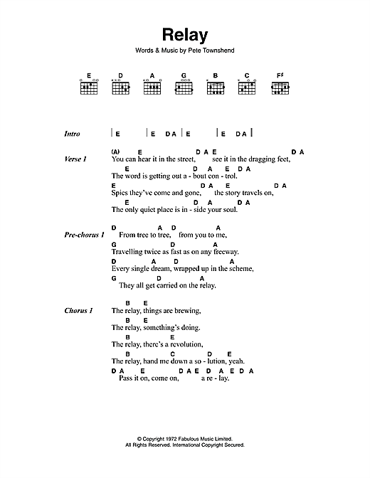 Relay Sheet Music
