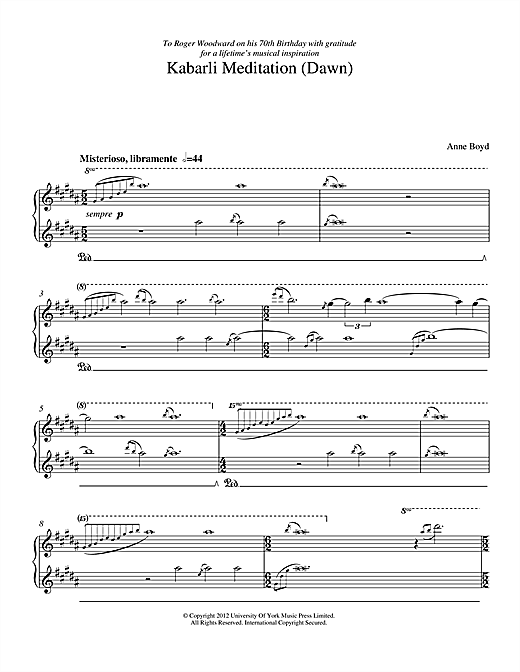 Kabarli Meditation (Dawn) Sheet Music