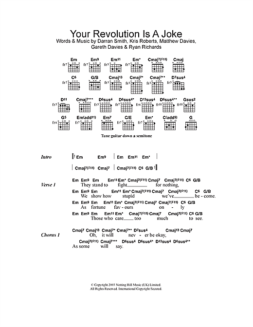 Your Revolution Is A Joke Sheet Music