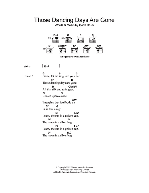 Those Dancing Days Are Gone Sheet Music
