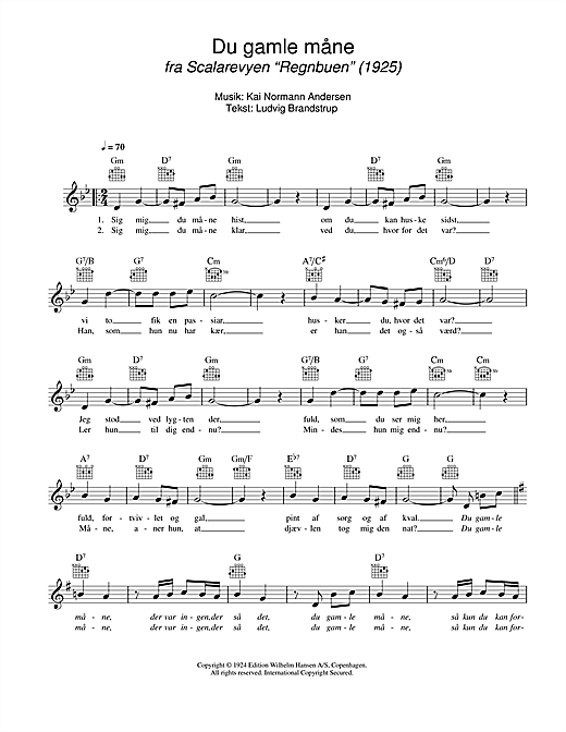 Du Gamle Mane Sheet Music