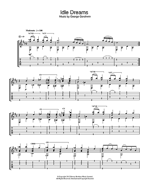 Idle Dreams Sheet Music