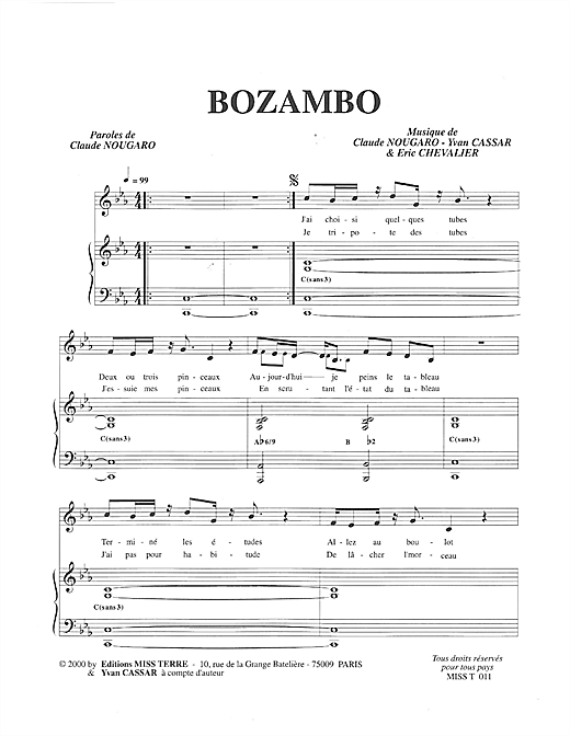 Bozambo Sheet Music