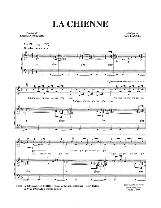 La Chienne Sheet Music
