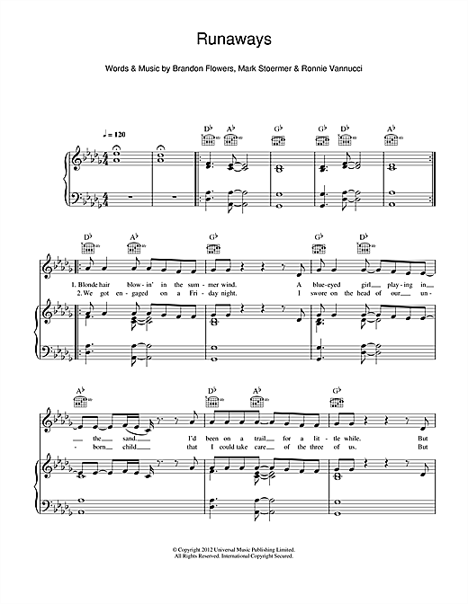 Runaways Sheet Music