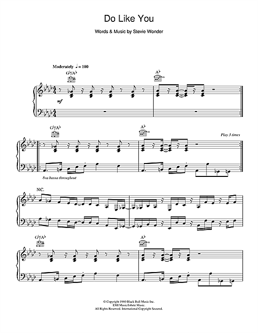 Do Like You Sheet Music