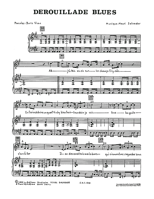 Derouillade Blues Sheet Music