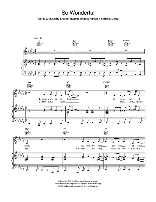 So Wonderful Sheet Music