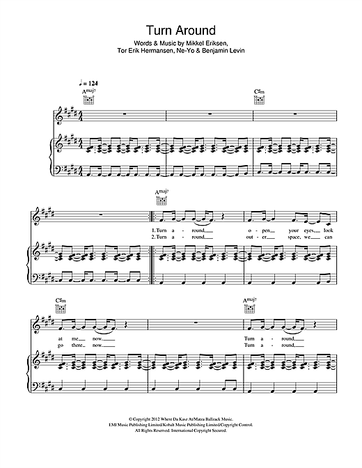 Turn Around (feat. Ne-Yo) Sheet Music