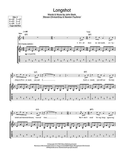 Long Shot Sheet Music
